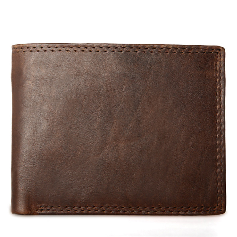 Men Wallet Male Cowhide Genuine Leather Purse Money Clutch Card Holder Coin Short Crazy Horse Photo Fashion 2017 Male Wallets crazy horse leather billfolds wallet card holder leather card case for men 8056r 1