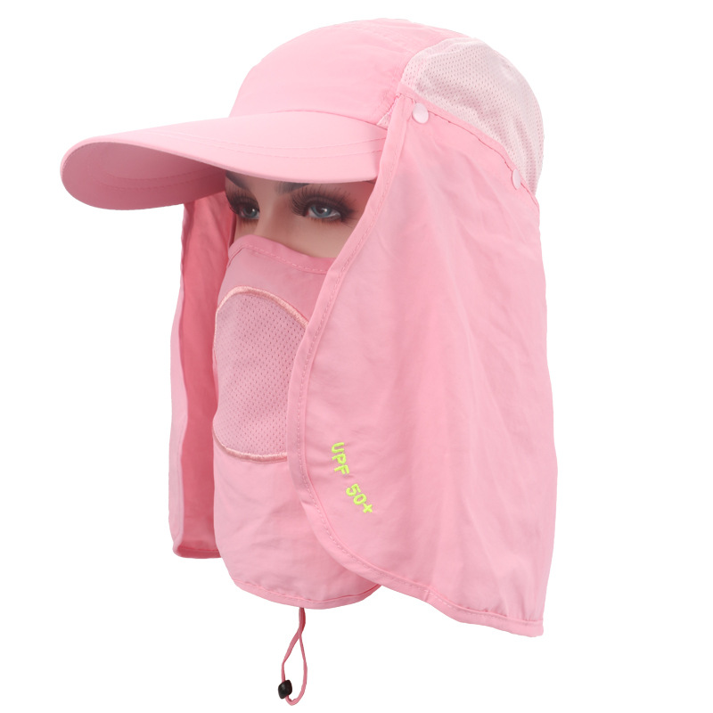 LumiParty Sun hat UV 50+Protection Outdoor Flap Cap with Removable Sun Shield an