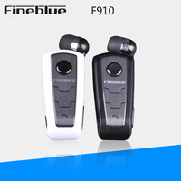 FineBlue F910 Wireless Bluetooth Earphone Calls Remind Vibration Headset With Mic Collar Clip For IPhone Samsung