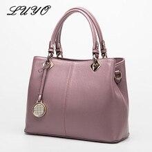 LUYO Fashion 100% Cowhide Top-handle Bags Genuine Leather Ladies Handbags Shoulder Bags Female Sequined Thread Women Totes Sac  недорого