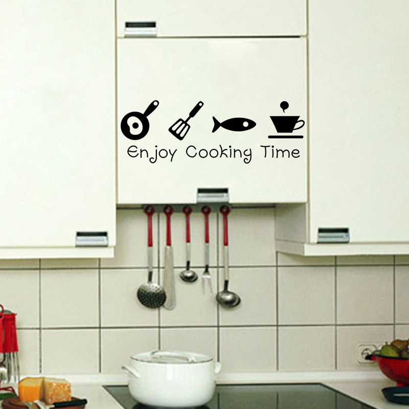 Creative diy kitchen wall stickers cuisine decal home - Stickers pour cuisine decoration ...