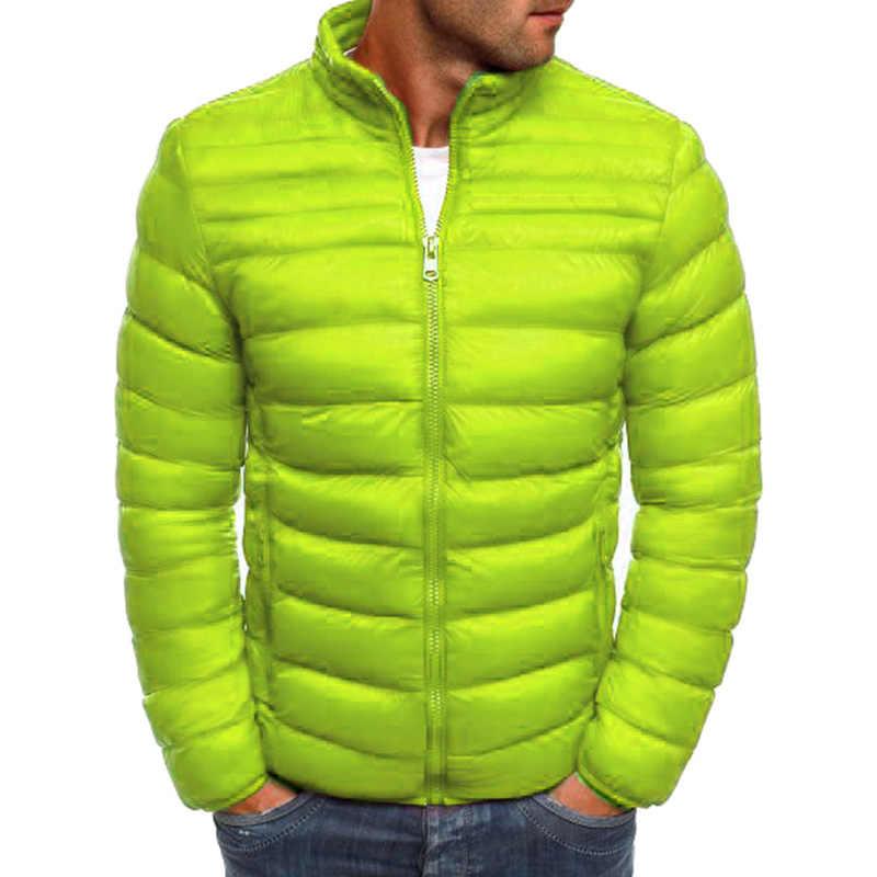 ZOGAA новые мужские парки куртки качественная Повседневная теплая верхняя одежда бренд Тонкий Мужской плащ; Ветровка Куртки мужские S-3XL