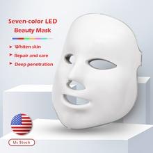 7 colors Led Therapy Mask Light Face Photon Facial Korean Skin Care Beauty Spa