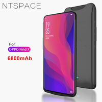 NTSPACE 6800mAh Ultra Thin Portable Power Bank Pack Battery Charger Case For OPPO Find X Battery Case External Backup Power Case