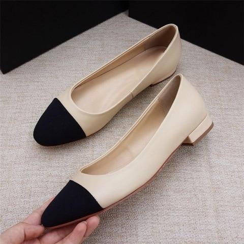 Women Genuine Leather Shoes High Heel Mary Jane Shoes Ladies Pumps Sheepskin Luxury Women Shoes Fashion Mixed Color Shoes Women Multan