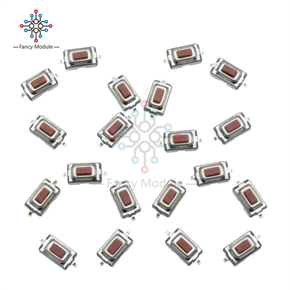 100PCS 3X6X2.5mm Tactile Push Button Switch Tact Switch Micro Switch 2 Pin SMD цена