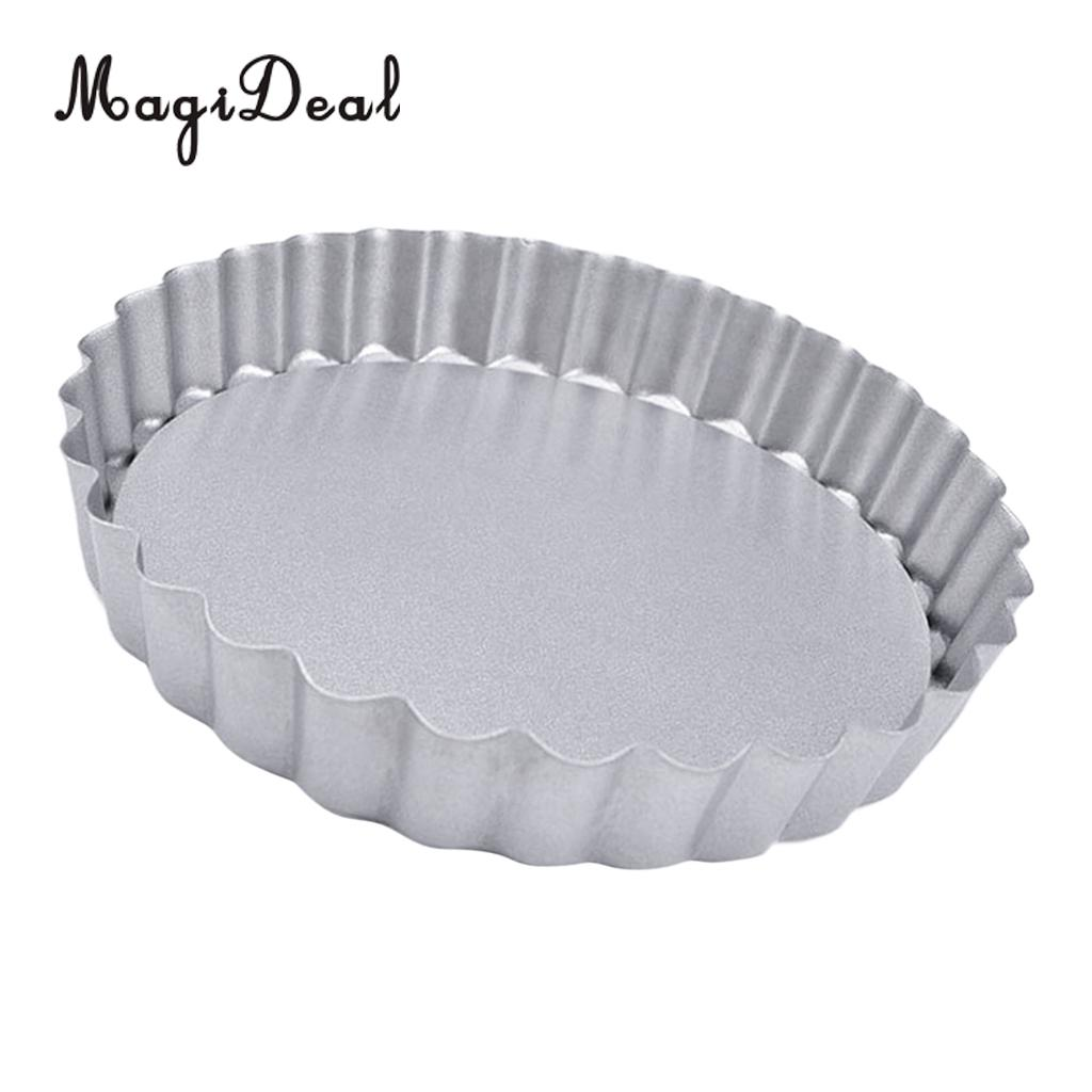 """Stainless Steel Flan Tin Cake Mould Pie Quiche Bake French Baking Pan 10/"""""""