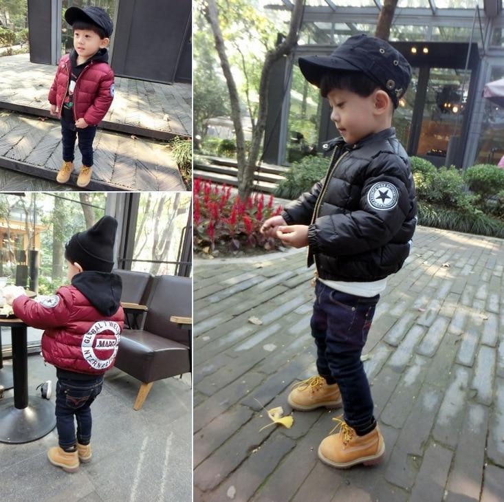 Yeni moda kiçik oğlan 1-5 yaş qış çörək pencəyi qalın palto - Uşaq geyimləri - Fotoqrafiya 2