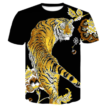 Brand 2019 New Wolf/tiger T Shirt Men Anime Tshirt China 3d Print T-shirt Hip Hop Tee Cool Mens Clothing New Summer Big Size Top queen freddie mercury howl t shirt white hip hop novelty t shirts men s brand clothing top tee summer 2017 100