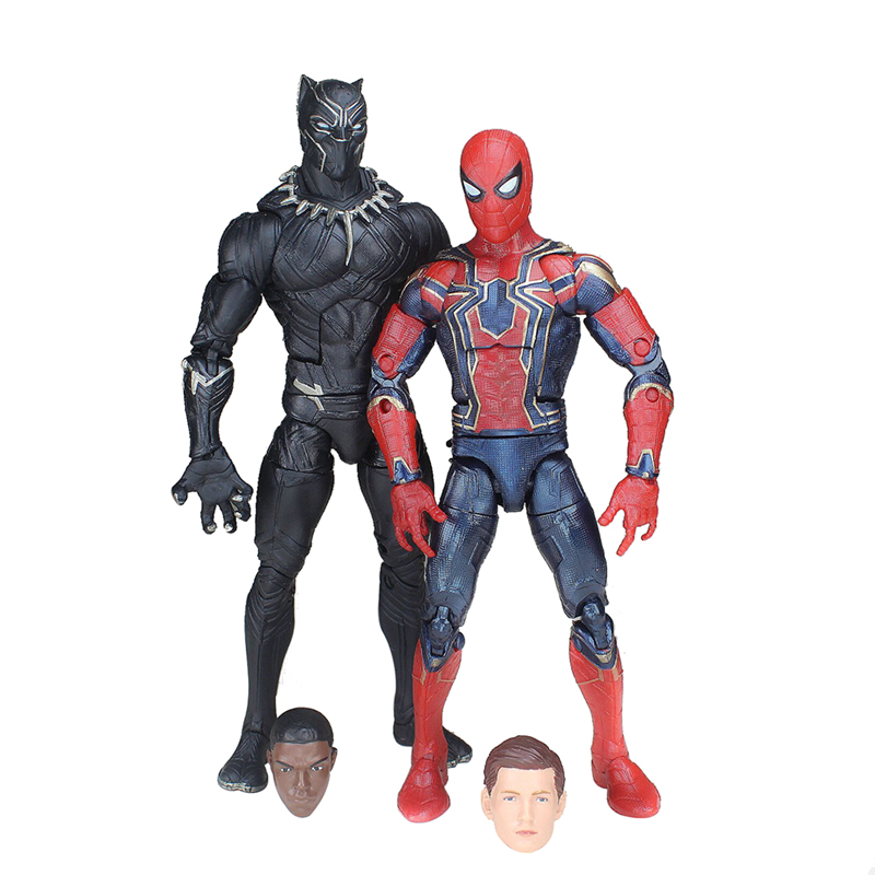 2PCS Spiderman Infinity War Black Panther Marvel Avengers Legends 6