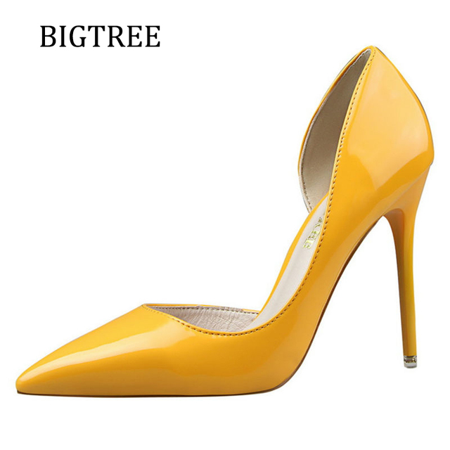 Size34 39 Brand Shoes Woman Pumps Red High Heels Extreme Pointed Toe Wedding Platform