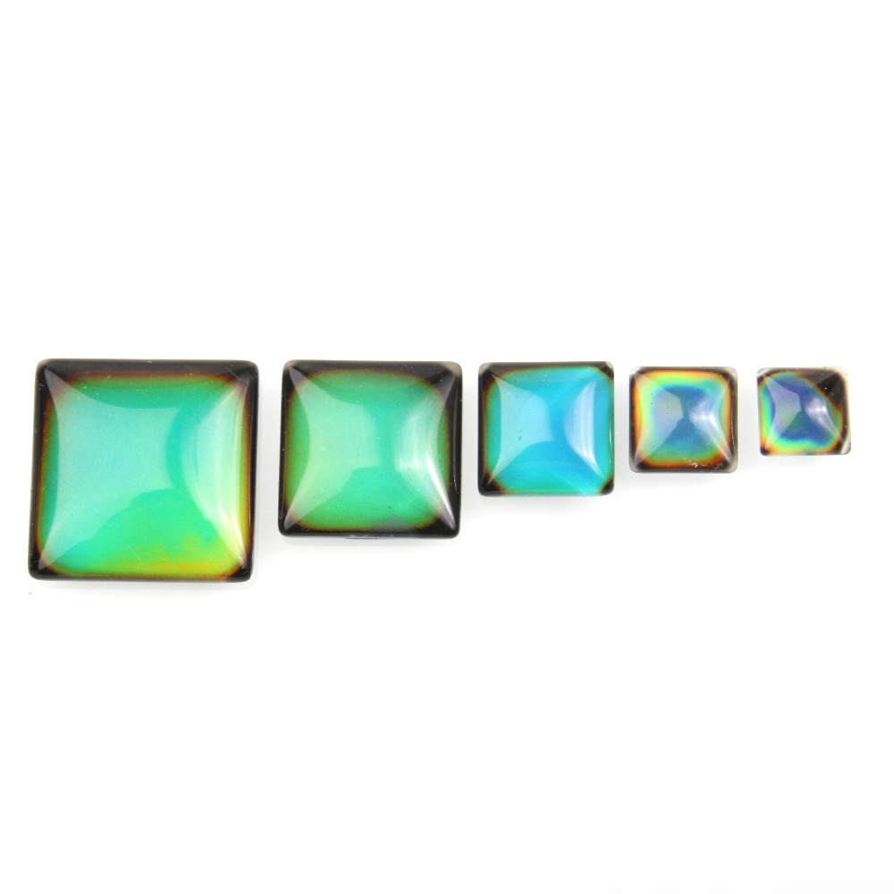 10pcs/bag Cabochon Color Change By Temperature  10 12 15 20 25mm Oval Shape For Making Jewelry DIY