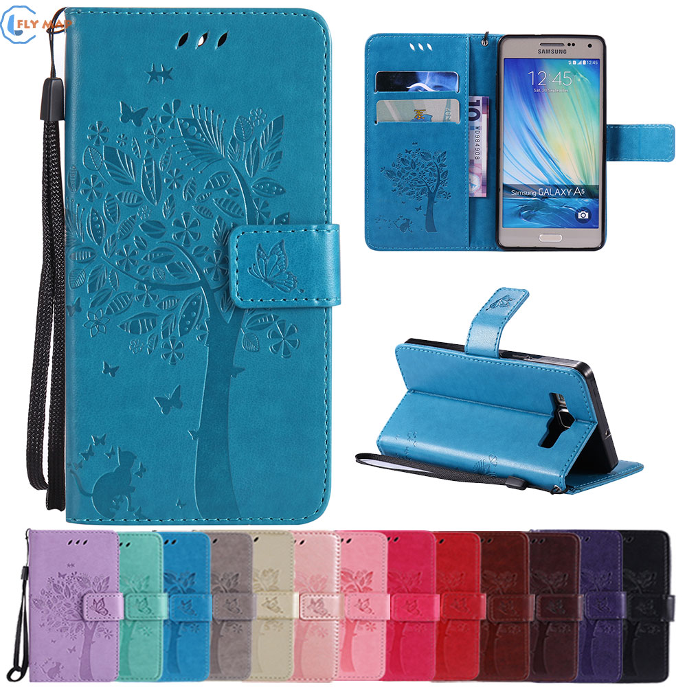 Coque For <font><b>Samsung</b></font> <font><b>Galaxy</b></font> <font><b>A5</b></font> A 5 A500 A500F <font><b>A500FU</b></font> A500H Wallet Flip Phone Leather <font><b>Case</b></font> Cover SM-A500 SM-A500F SM-<font><b>A500FU</b></font> Capa Box image