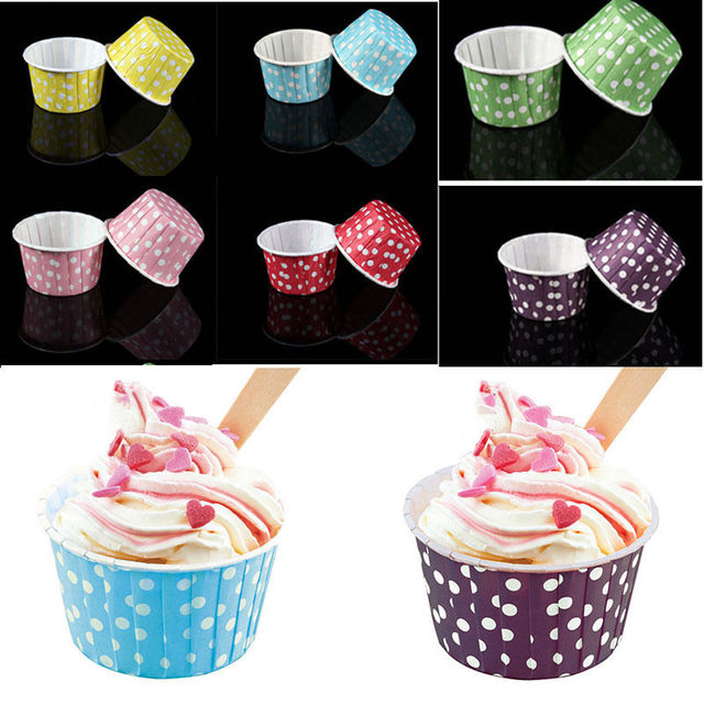 20pcs/Lot Paper Cake Cup Ice Cream Cup Liners Baking Cup Muffin Kitchen Cupcake Cases 6 Colors