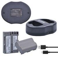 2 Pcs Lot EN EL3E EN EL3e ENEL3E EN EL3E Batteryies Dual USB Charger For Nikon