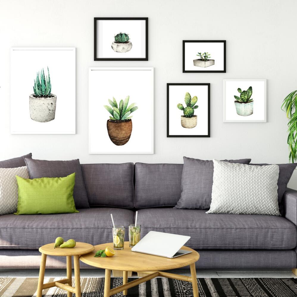 Nordic Minimalism Cactus Decor Pictures Canvas Painting ...
