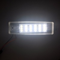 2017 New 2PCS Car Styling AC 33W Car Led License Plate Lights White Car Lamp For