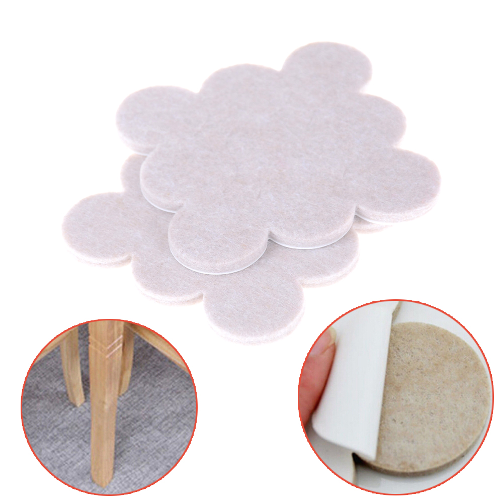 18pcs Self Adhesive Felt Pads Wood Floor Protectors Felt Pads Furniture Chair Table Leg Floor Protect Pad Scratch