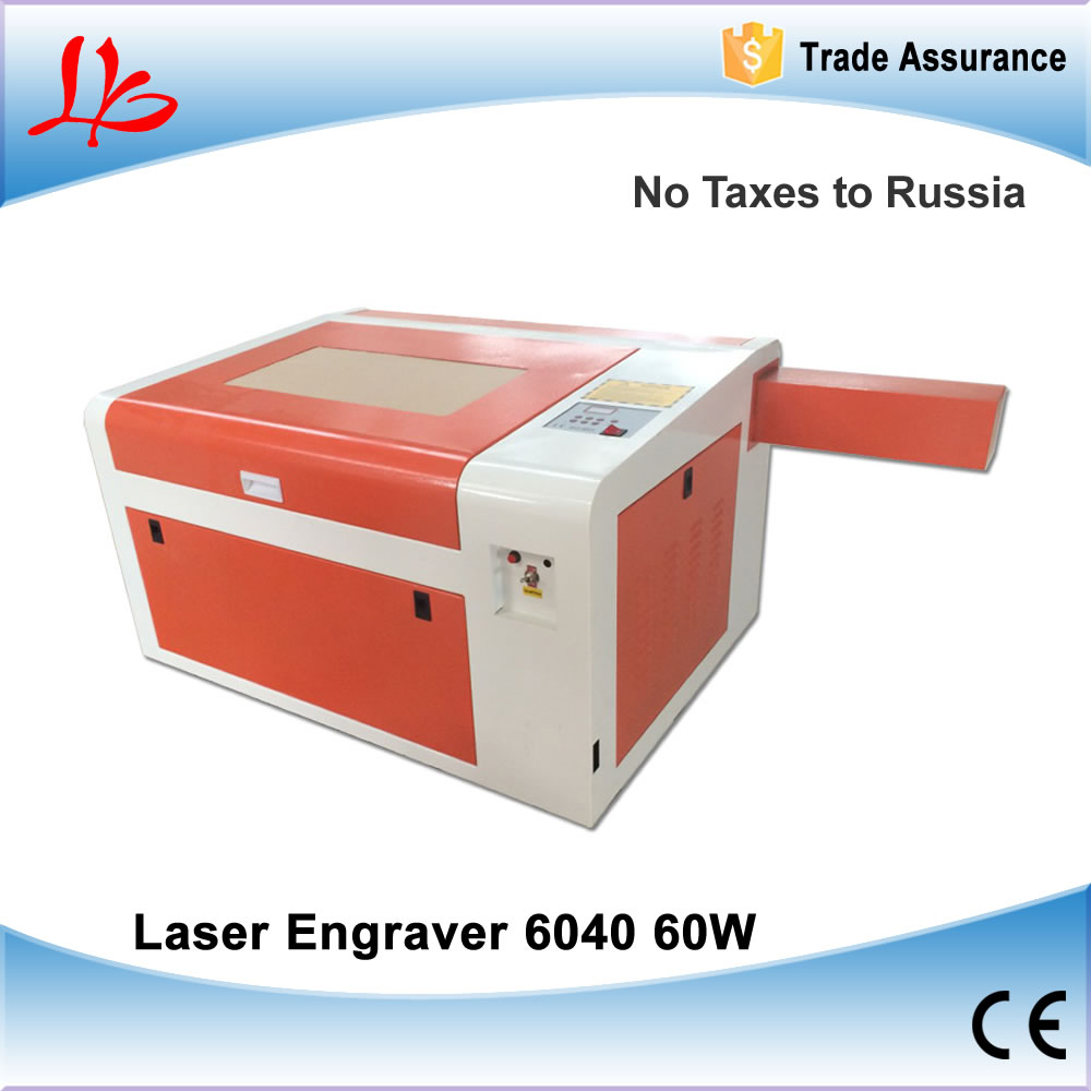 NO TAX to Russia & Ukraine, 60W CO2 Laser Engraving Machine 6040 Laser Cutting Machine with Rotary Axis no tax to russia