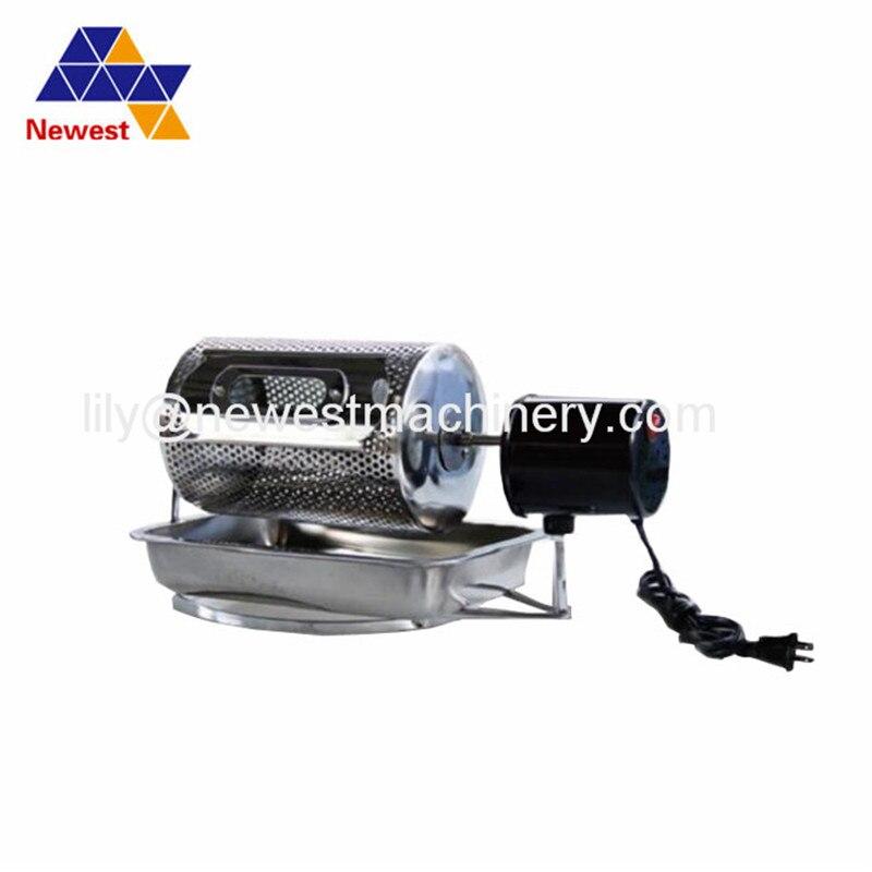 Coffee bean roasting machine household mini stainless steel electric drum type rotation coffee roaster(China)