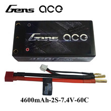 Gens ace Lipo Battery 7.4V Battery 4600mAh Lipo 2S 60C-120C RC Battery Pack 2S2P Deans Plug for Traxxas RC Cars Top Performance(China)