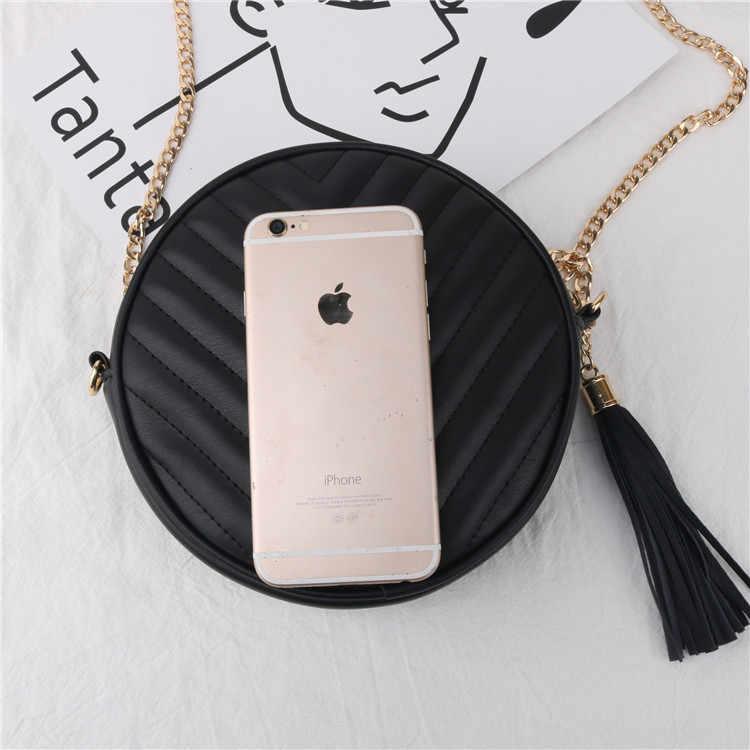 Кошелек круглой формы Классическая стеганая Сумочка круглая сумка через плечо для женщин сумка на плечо роскошный дизайн