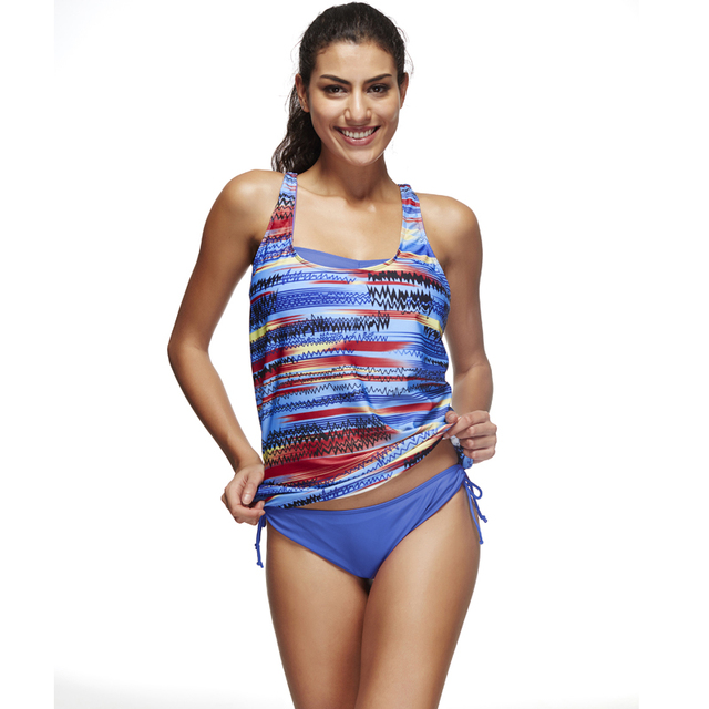 450fad6ef403e Graffiti tankini swimsuit women 3 piece swim wear tankini bra+bottoms+tank  top women s bathing suit plus size swimwear bikinis