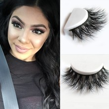 Free Shipping D008 1pcs/lot 100% Real Siberian 3D Mink Full Strip False Eyelash Long Individual Eyelashes Mink Lashes Extension