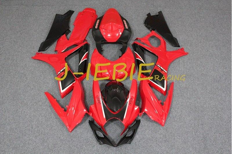 Rouge Noir Injection Carénage Body Work Cadre Kit pour SUZUKI GSXR 1000 GSXR1000 K7 2007 2008