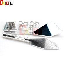 цена на Universal Aluminum Motorcycle Mirrors motorbike Rearview side Mirror for Honda RVF750 RC45 ST1100 PAN-EURO VF1000 VFR400 NC30
