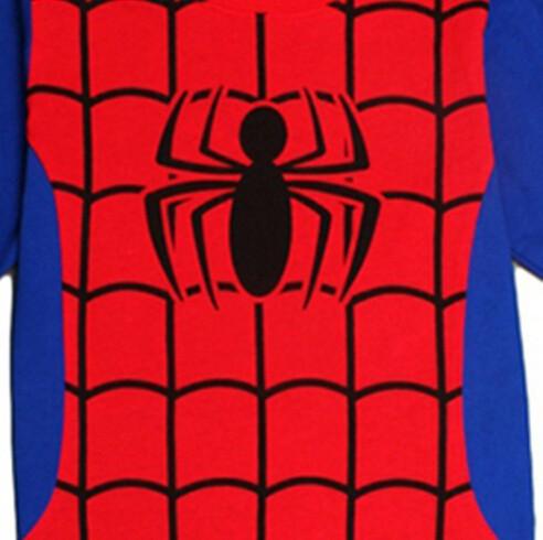 красный мальчики-laden пак железо человек малыша дети одежда комплект одежда комплект Пэм сна домашняя одежда k010
