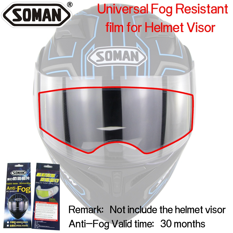 Anti-Fog Lens film universal for the Motorcycle Helmet visor Fog Resistant films Soman AV02