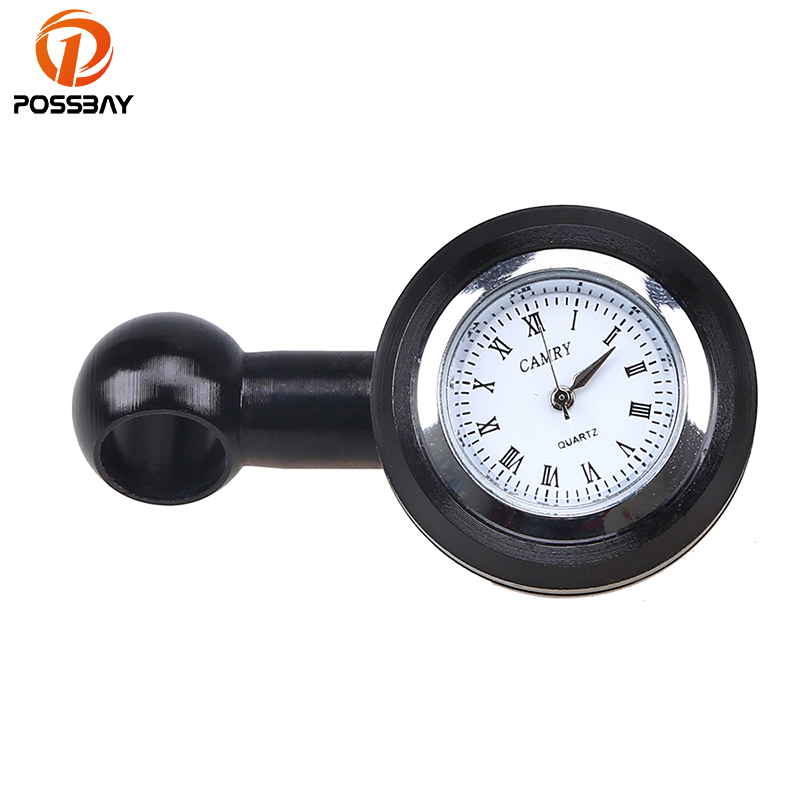 POSSBAY 10mm Motorcycle Clock Scooter Mirror Mount Watch Aluminum Universal fit for Harley Kawasaki Motorbike Watch Instrument