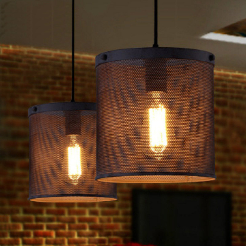 American Countryside Loft Style Chandelier Vintage Wrought Iron Net Lamp Bars Decoration Living Room Light Free Shipping