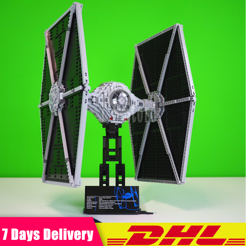 DHL LEPIN IN STOCK IN STOCK 1685pcs Star 05036 Series Wars Tie Fighter Building Educational Blocks Bricks Toys Compatible 75095 dhl lepin 05055 star series military war the rogue one usc vader tie advanced fighter compatible 10175 building bricks block toy