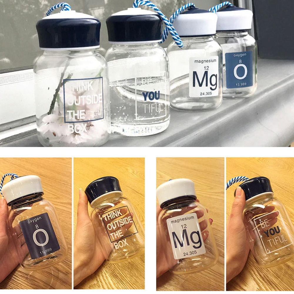 350ml Portable Sports Travel Outdoor Glass Water Bottle BPA Free Fashion New
