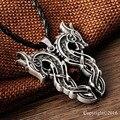 1 pcs Lendário Sekira Nórdico Viking Viking Amuleto Pingente de Colar de Casal Grande Dragão Pingente Talismã Amuleto Pingente de Colar