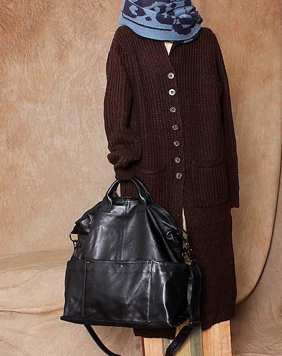 Hot-selling casual genuine leather big bag womens handbag  one shoulder cross-body brief  size 52.5*41blackHot-selling casual genuine leather big bag womens handbag  one shoulder cross-body brief  size 52.5*41black