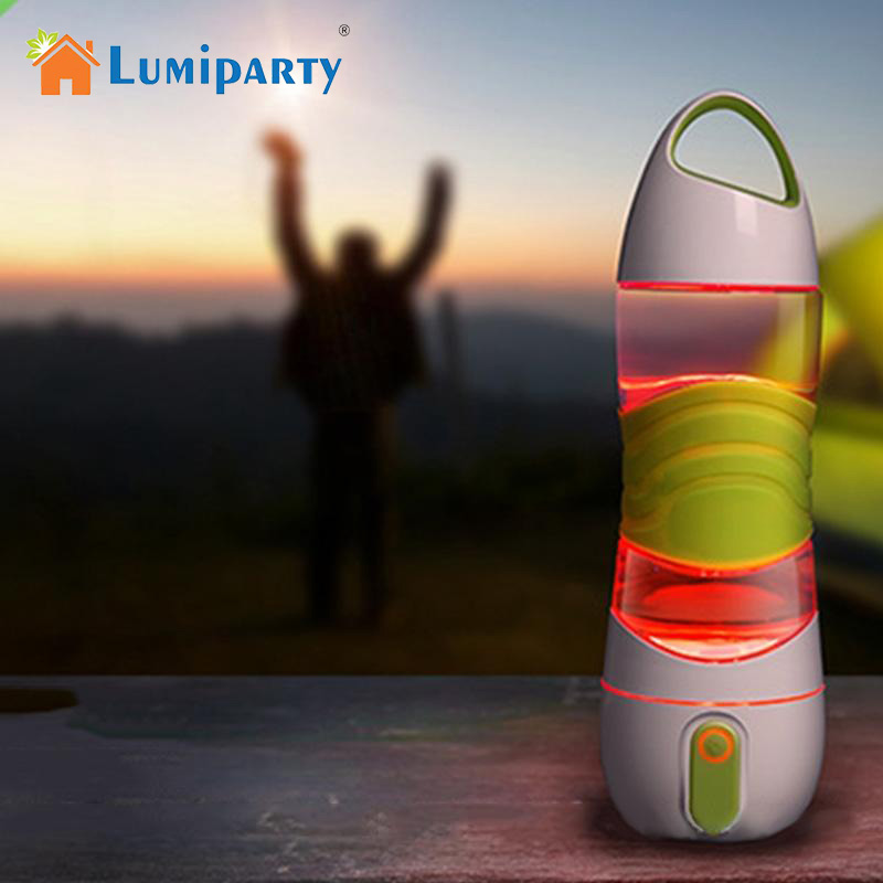 LumiParty Spray Water Bottle Smart Reminder Water Bottle Mist Sprayer with Light for Cycling Climbing Gym Travel