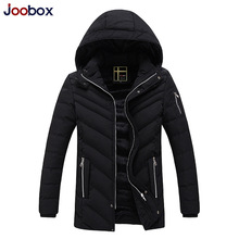 JOOBOX Brand 2017 New Arrival High quality Fashion warm thick winter jacket men Casual Zipper Cotton Coat male Hooded clothing