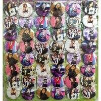 BLACKPINK # B поп звезд для девочек, 45 мм/16/24/48 шт много PIN Назад Знак пуговичная брошь материал для изготовления сумок, игрушка в подарок Ткань клас...