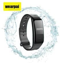 Wearpai WP102Heart скорость Мониторы Bluetooth Smart Браслет SmartBand часы водонепроницаемые Смарт-фитнес трекер Touchpad OLED ремень