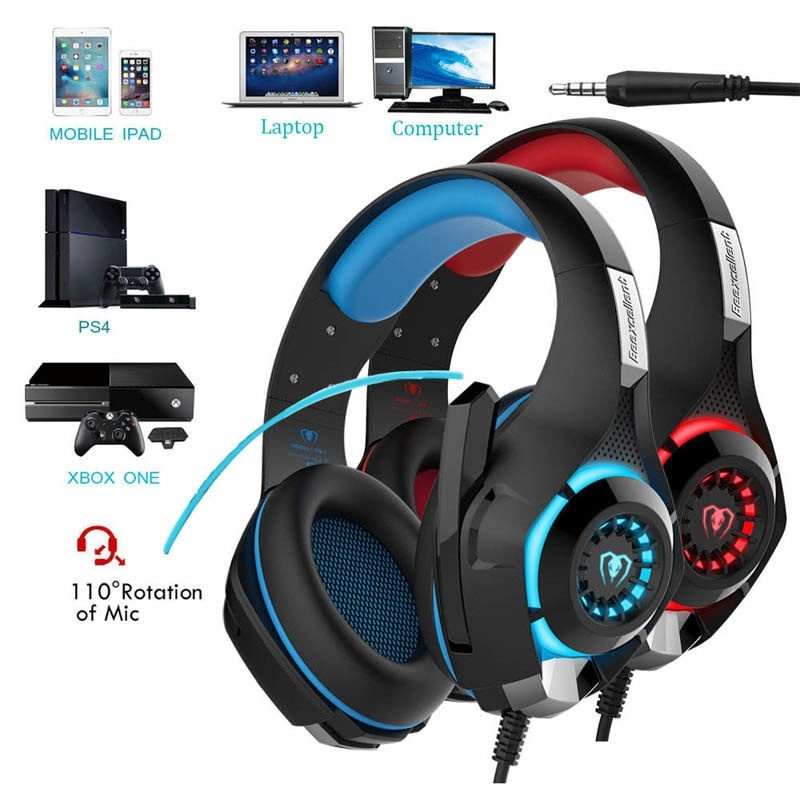 Gaming Headset with Microphones For PS4 Headphones Tablet Notebook Laptop USB 3 5MM Head Phones