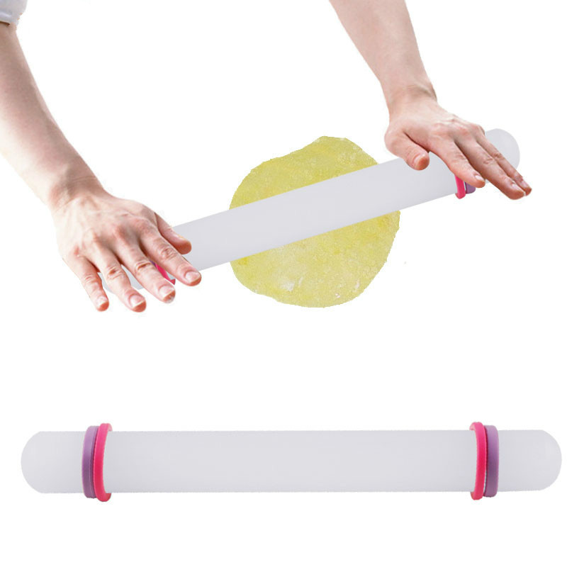 NEW Rolling Pin with Adjustable Guide Rings pastry Icing Fondant Cake Decor New