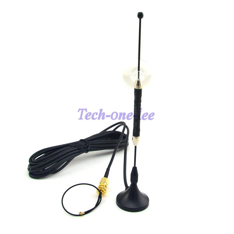 10 pièce/lot 4G Antenne 10dbi LTE Aérienne 698-960/1700-2700 Mhz SMA Magnétique pour 4G lte + SMA femelle à Ufl./IPX 1.13 câble 15 cm