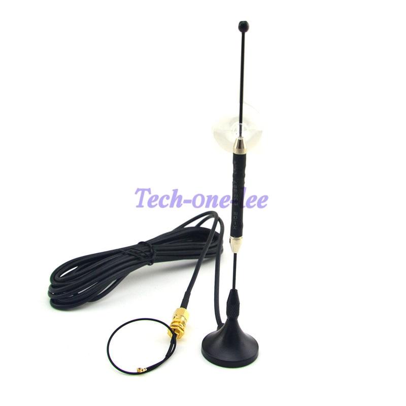 Antenne 10 pièce/lot 4G 10dbi LTE antenne 698-960/1700-2700 Mhz SMA magnétique pour 4G lte + SMA femelle à Ufl./IPX 1.13 câble 15 cm