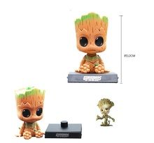 12CM Evade Glue Guardians of The Galaxy Vol 2 Action Figure Shaking His Head Doll Car Furnishing Articles Model Holiday Gift(China)