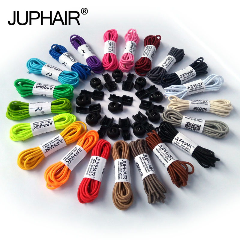 JUP 1 Pair Fashion No Tie Locking Shoelaces Sneaker Elastic Shoelaces Children Safe Elastic Shoe Laces Shoestrings Jogging Sport