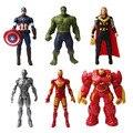 Мстители 2 age of ultron ironman фигурка 30 см 2016 новый Интерактивный Капитан Америка Халк Buster 3 Гражданская Война участник украшения