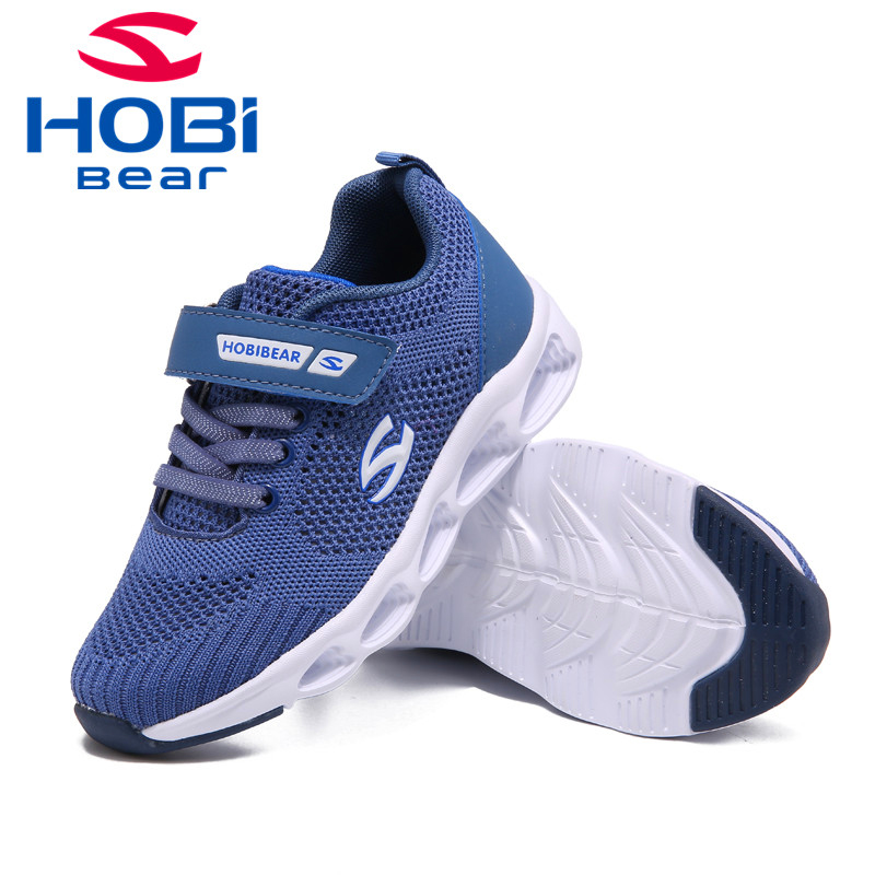 Hobibear Kids Shoes for Girls Sneakers For Boys Running Black Basket Tennis Trainers Top Brand Children Sneakers H7696